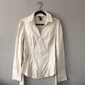 WHBM Beautiful business casual top.